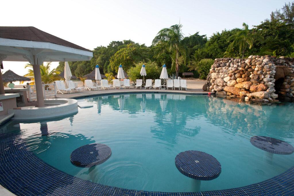Nude Beach Pool at Couples Sans Souci, Jamaica