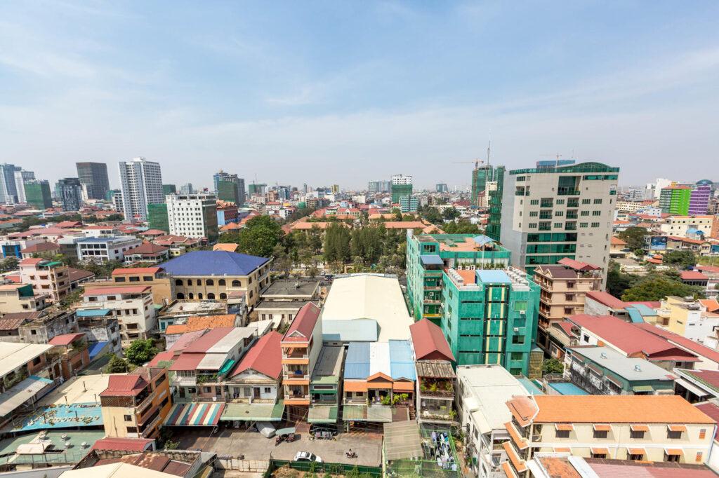 Phnom Penh view in Cambodia