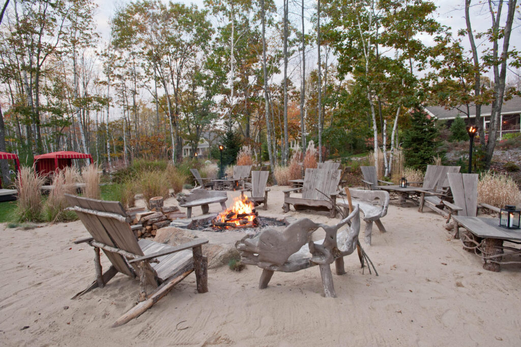 Fire pit at Sand Bar & Grill at the Hidden Pond