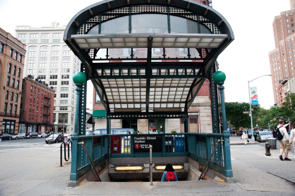 Franklin St. station in TriBeCa, New York, NY