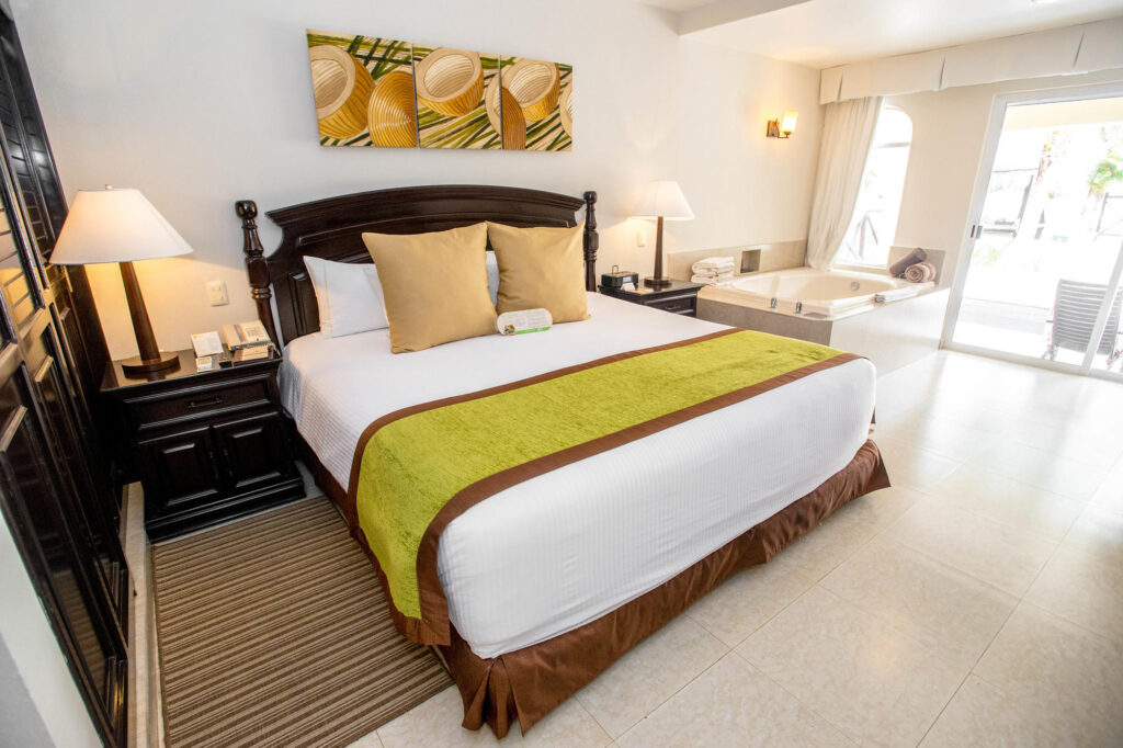 Bed at Hidden Beach Resort