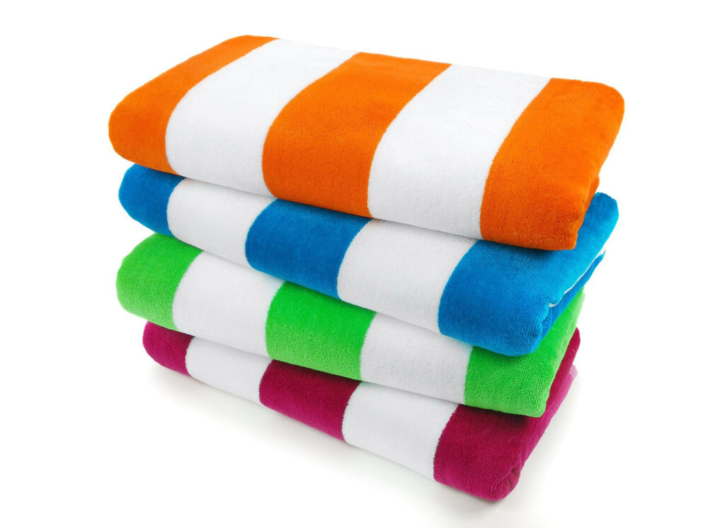 4-Pack Velour Cabana Towels by Kaufman