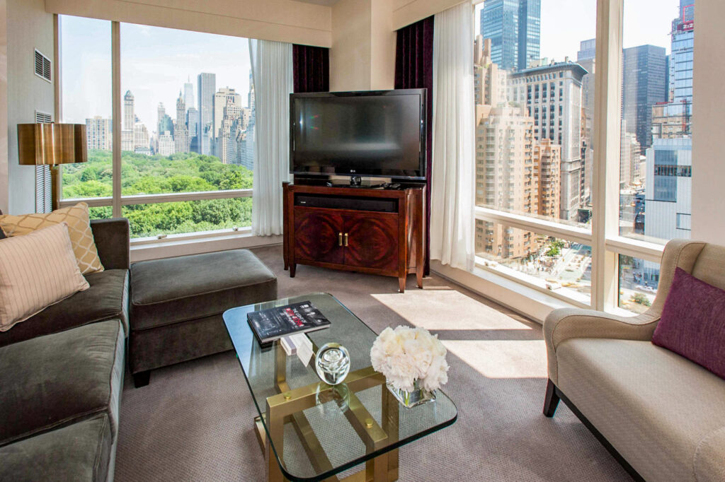 The Two-Bedroom Park-View Suite at the Trump International Hotel And Tower