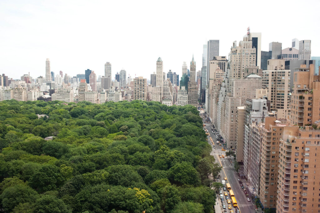 View of Central Park, Upper West Side, New York, NY