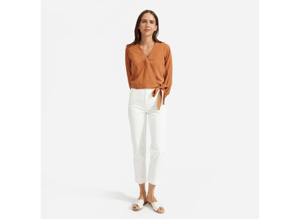 The Washable Silk Wrap Top from Everlane