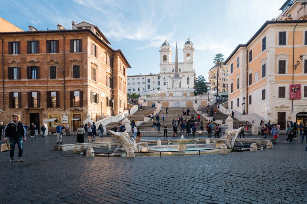 Piazza di Spagna and Piazza del Poppolo