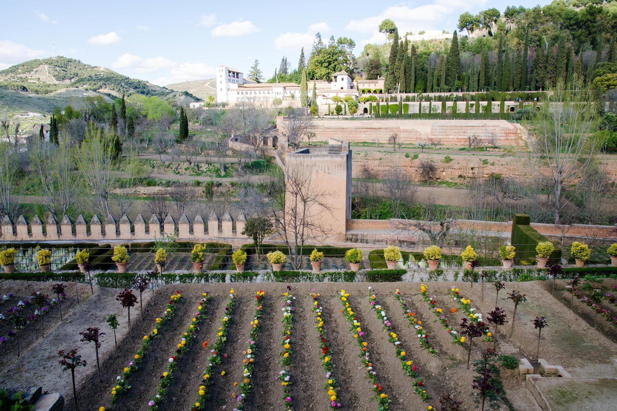 Garden at the Parador de Granada, Spain
