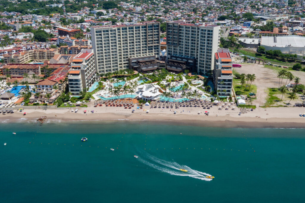 Aerial view of the Secrets Vallarta Bay