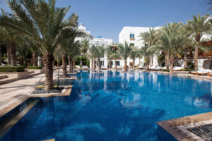 The Amara Spa pool at the Park Hyatt Dubai