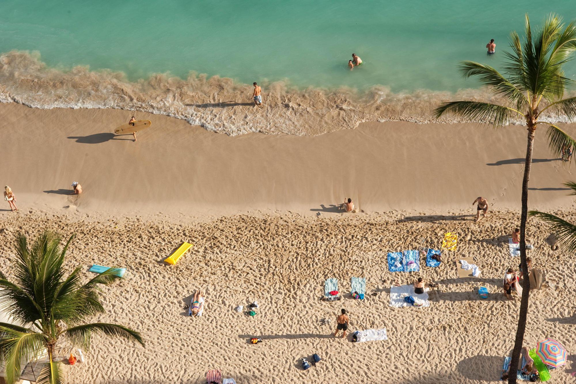 Beach at Outrigger Waikiki Beach Resort, Honolulu