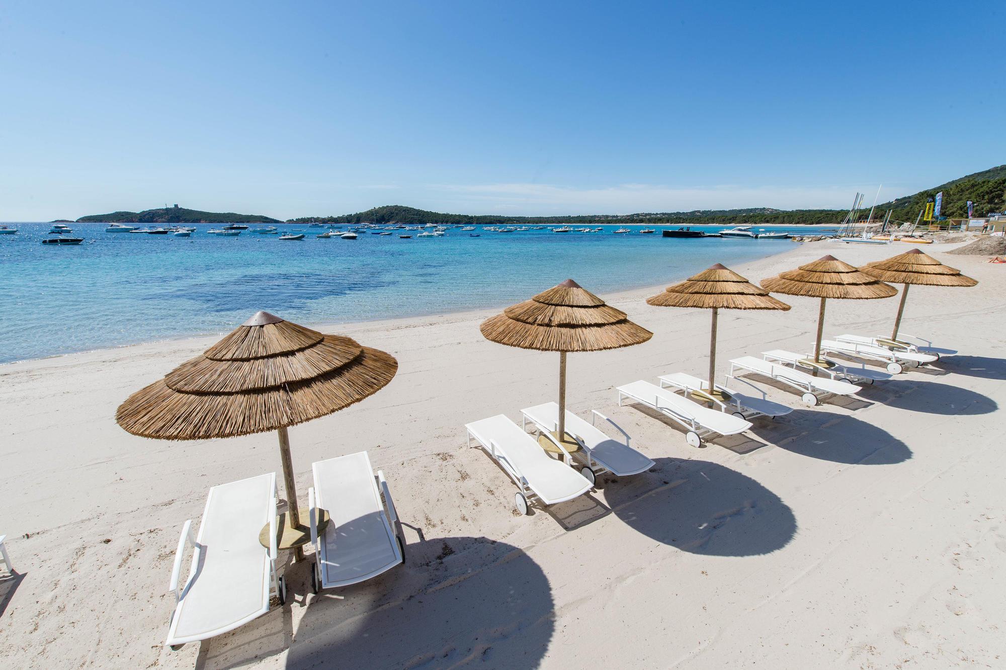 Beach at Le Pinarello Hotel, Corsica