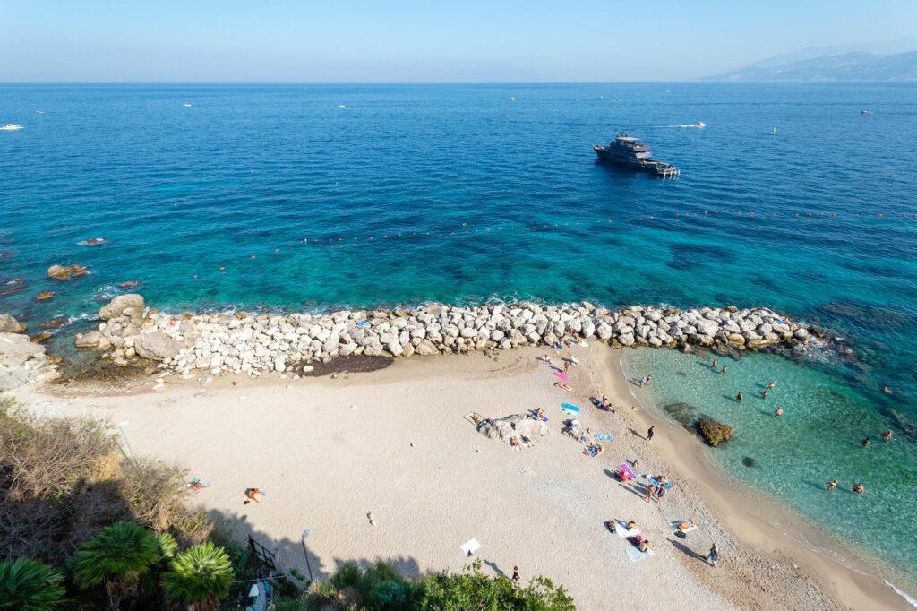 Beach at the J.K. Place Capri