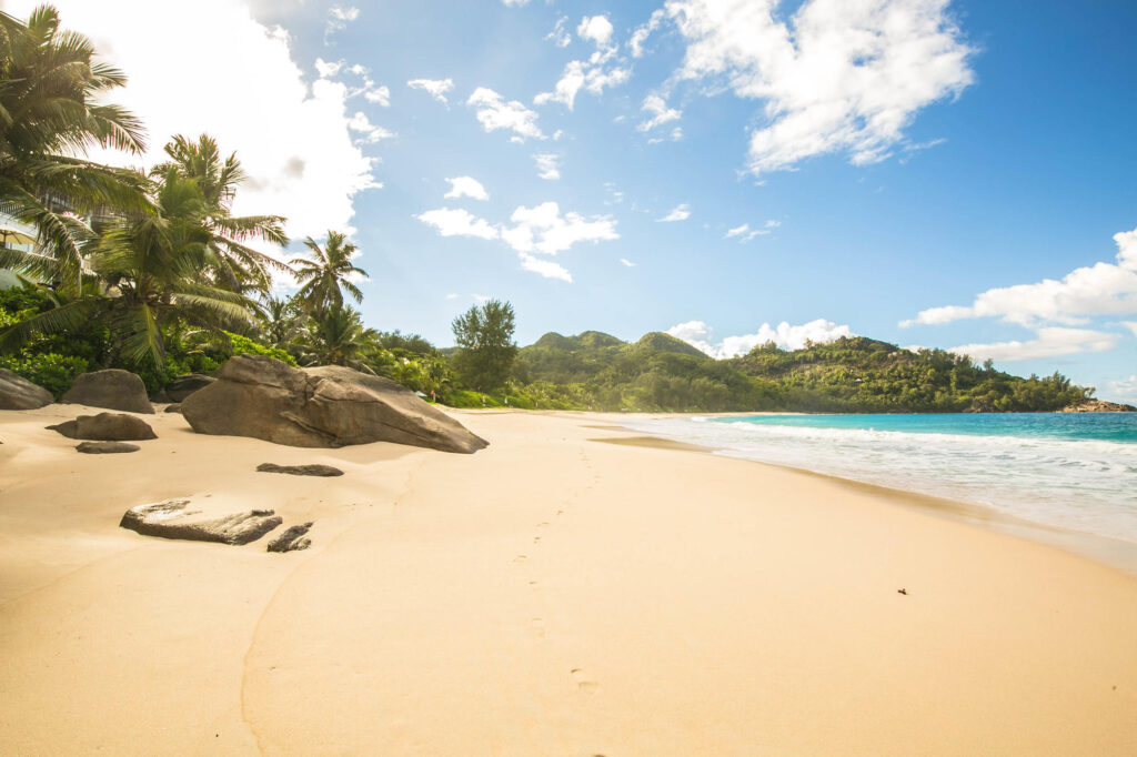 Beach at the Banyan Tree Seychelles