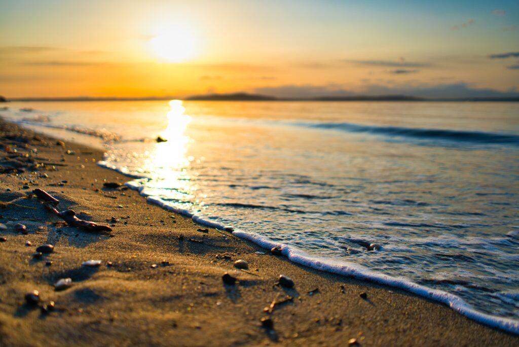Alki Beach at sunset