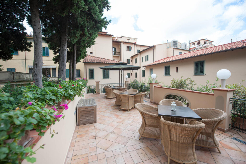 Garden Terrace at the Bologna Hotel Pisa