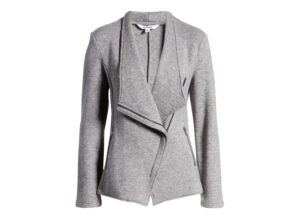 BB Dakota Off the Clock Asymmetrical Knit Moto Jacket