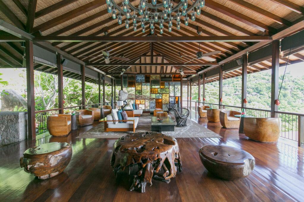 Lobby at the Four Seasons Resort Seychelles