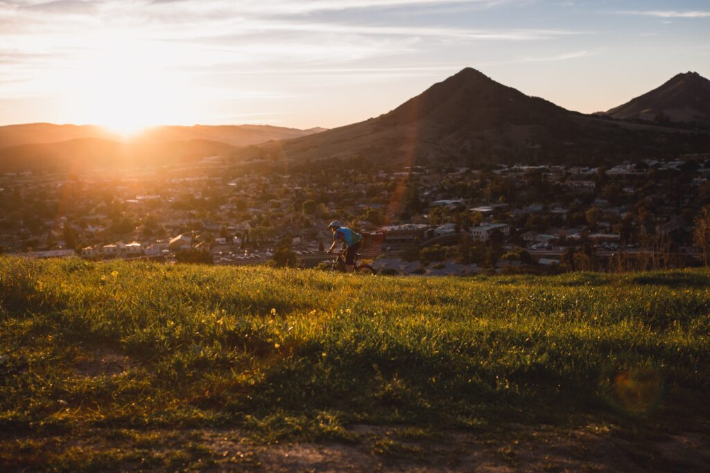 Mountain Biking Terrace Hill in San Luis Obispo, United States