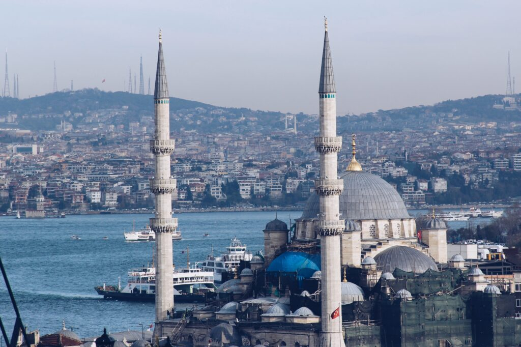 Blue mosque in Istanbul, Turkey view