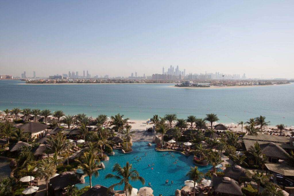 Pool view from The Palm Suite at the Sofitel Dubai The Palm Resort & Spa