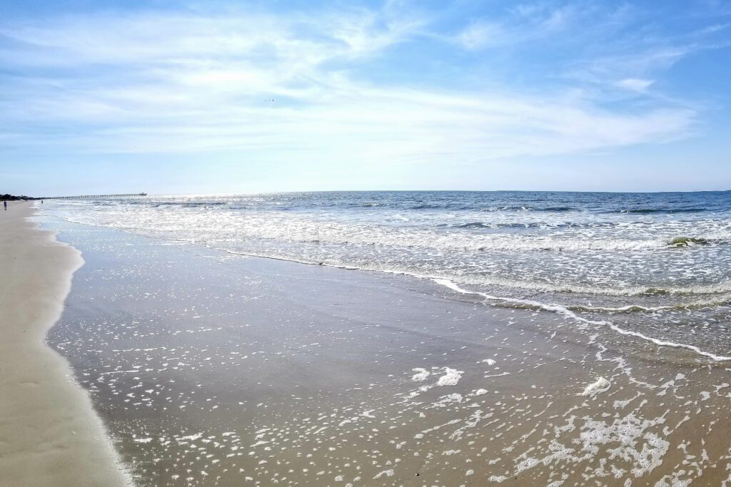 The ocean on Oak Island, North Carolina