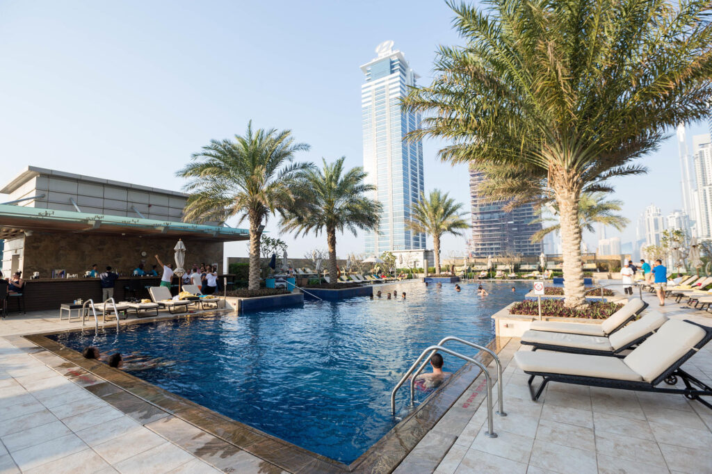 The Pool at the JW Marriott Marquis Hotel Dubai