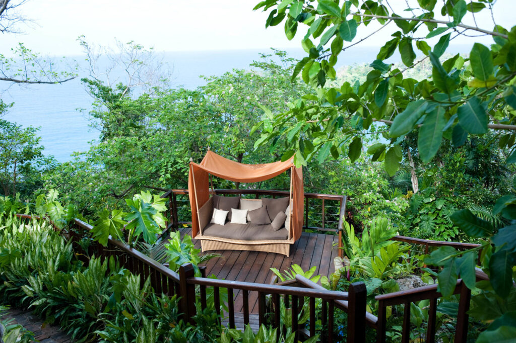 Lounge area at the Geejam, Port Antonio, Jamaica