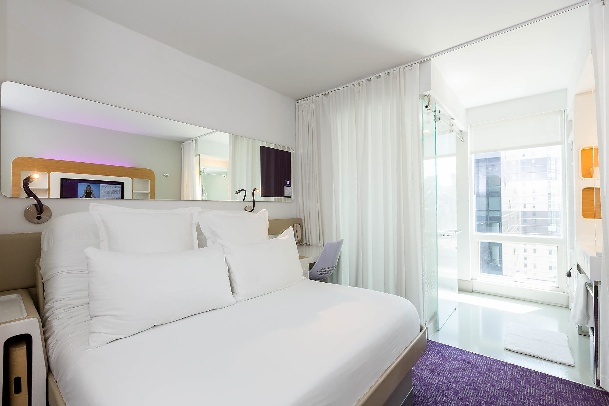 Queen City View Room at YOTEL New York.