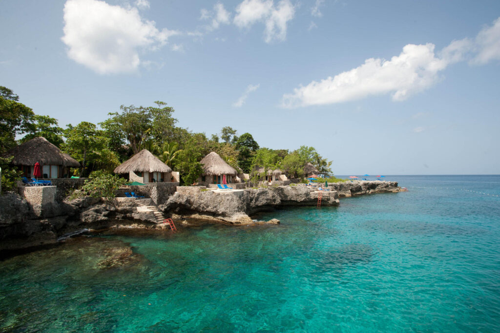 The Rockhouse Hotel on the ocean in Negril, Jamaica