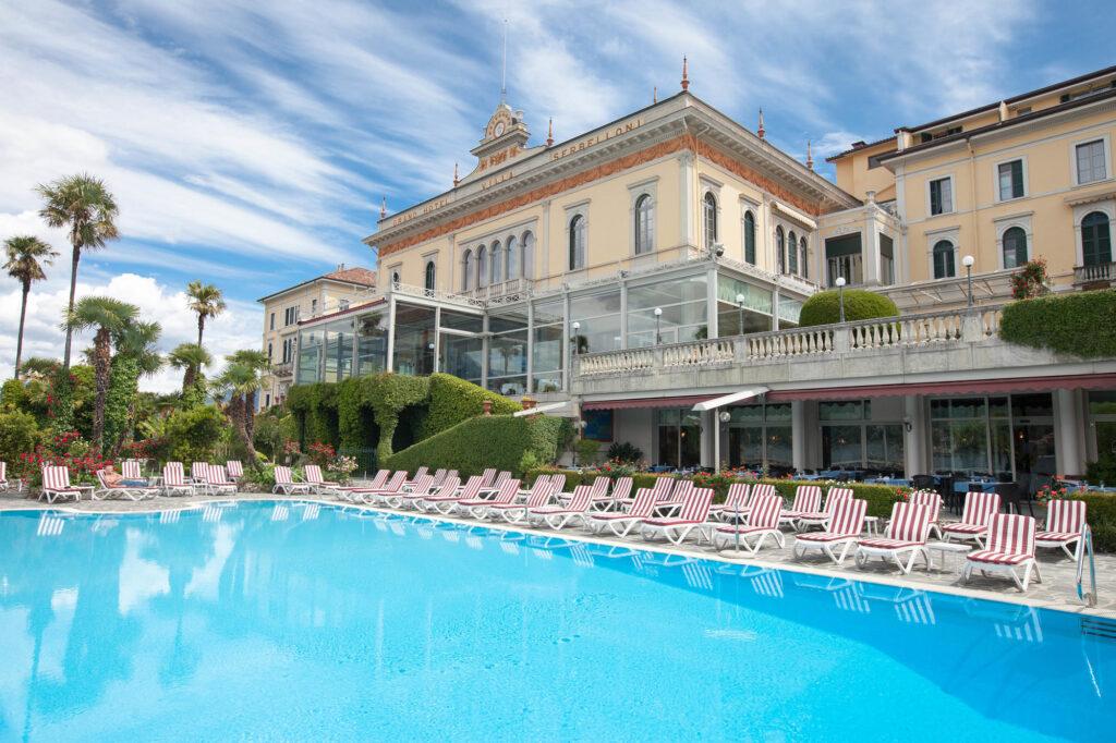 The pool at the Grand Hotel Villa Serbelloni