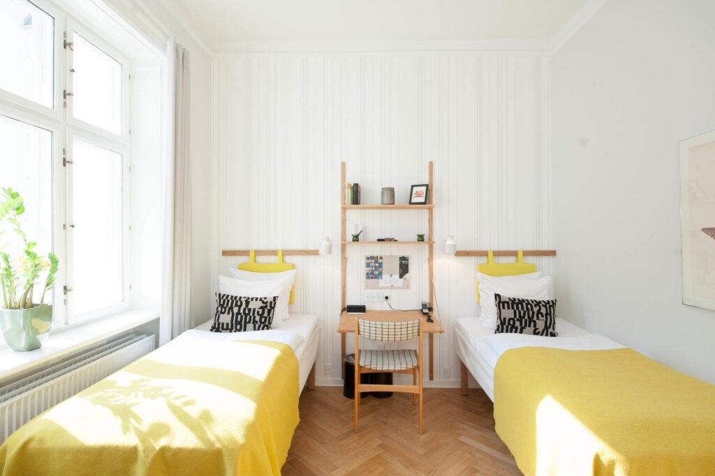 The Twin Room (Danish Retro Room) at the Hotel Alexandra