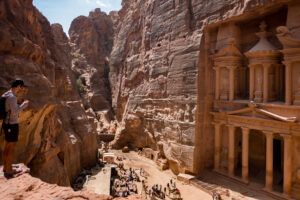 View of the Treasury at Petra, Jordan