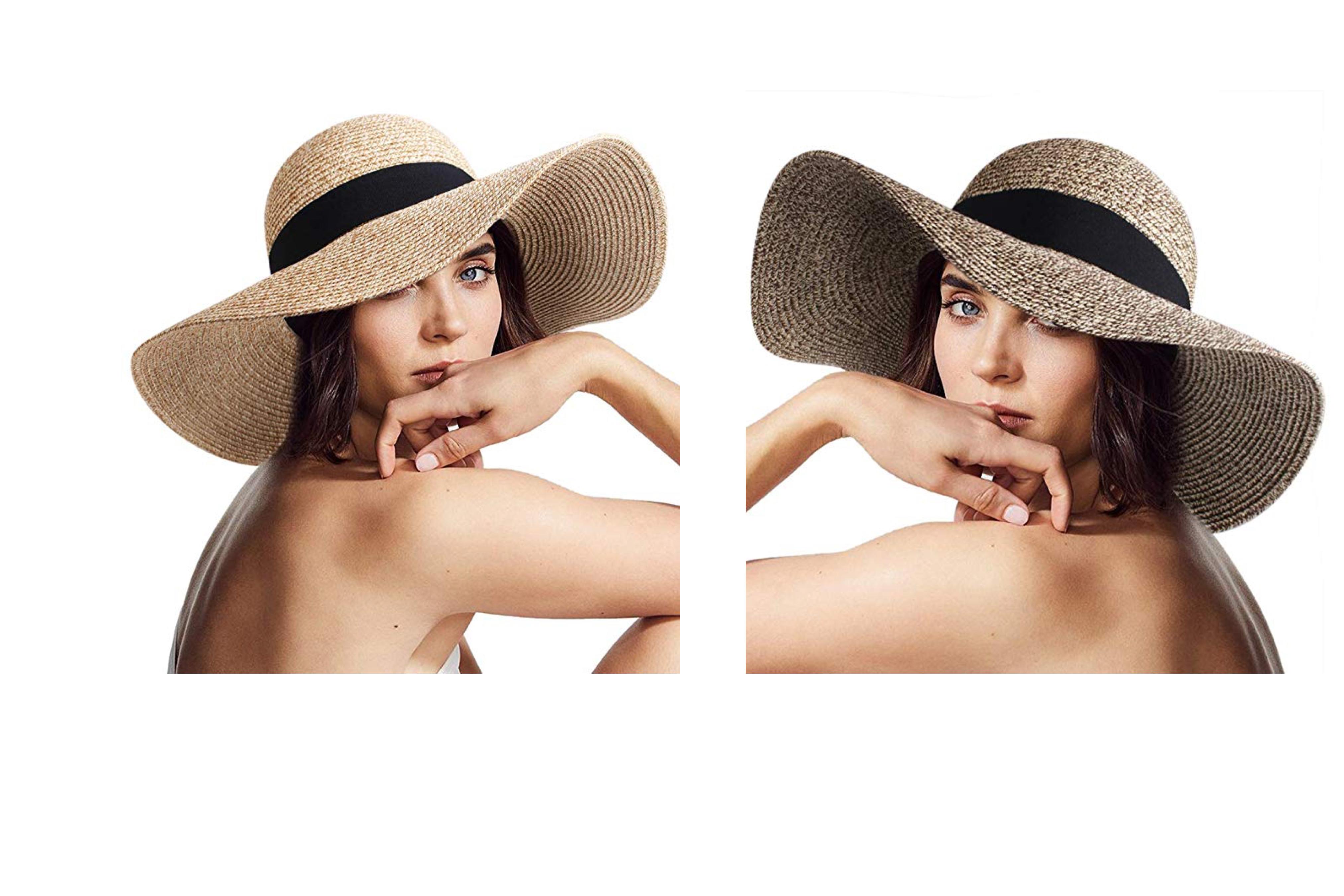 The Furtalk Women's Foldable Straw Hat