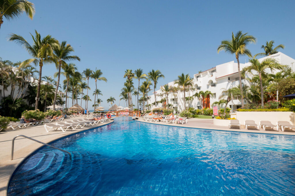 The Adult Pool at the Marival Resort & Suites Nuevo Vallarta All-Inclusive