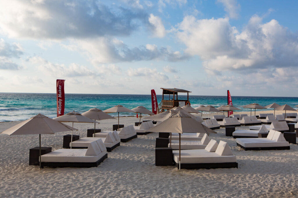 The Beach club Pool at the Melody Maker Cancun