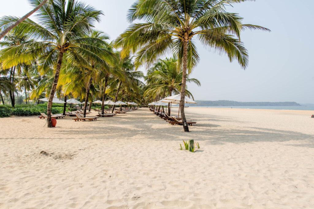 Beach at The Leela Goa