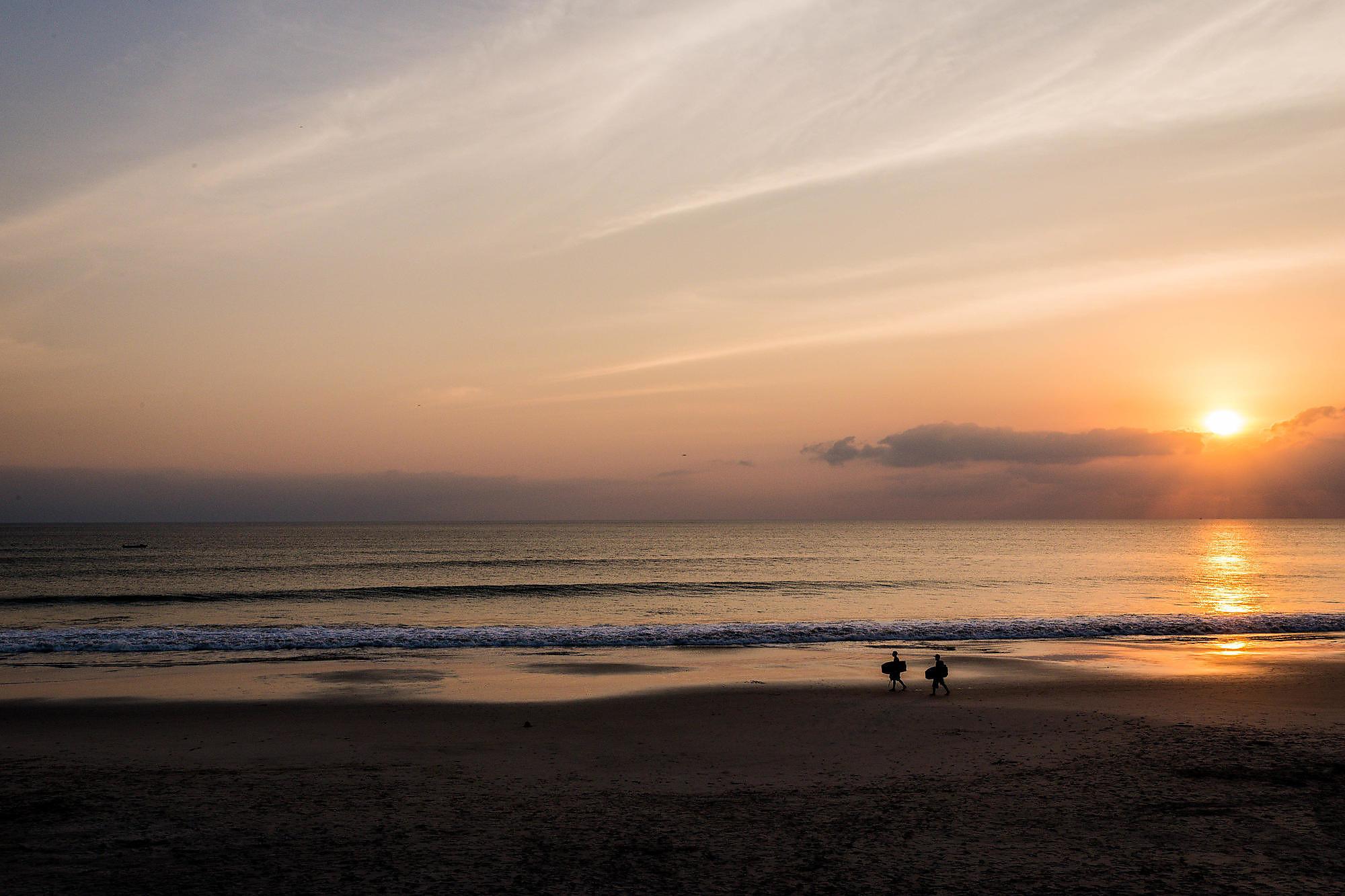 Sunset over the beach at W Punta Mita