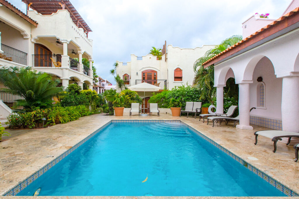 The Courtyard Pool at the Cap Maison