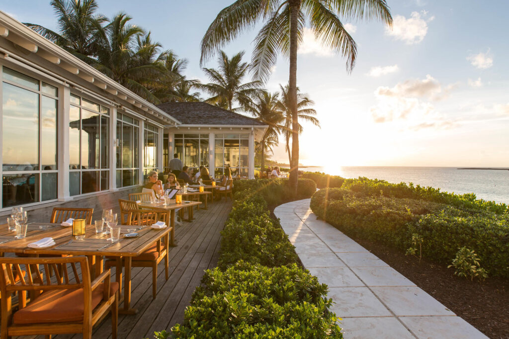 Dune Bar and Cafe at the The Ocean Club, A Four Seasons Resort, Bahamas