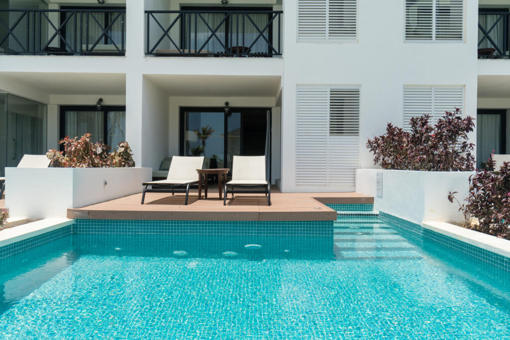 The Junior Suite with Private Pool at the Excellence Oyster Bay
