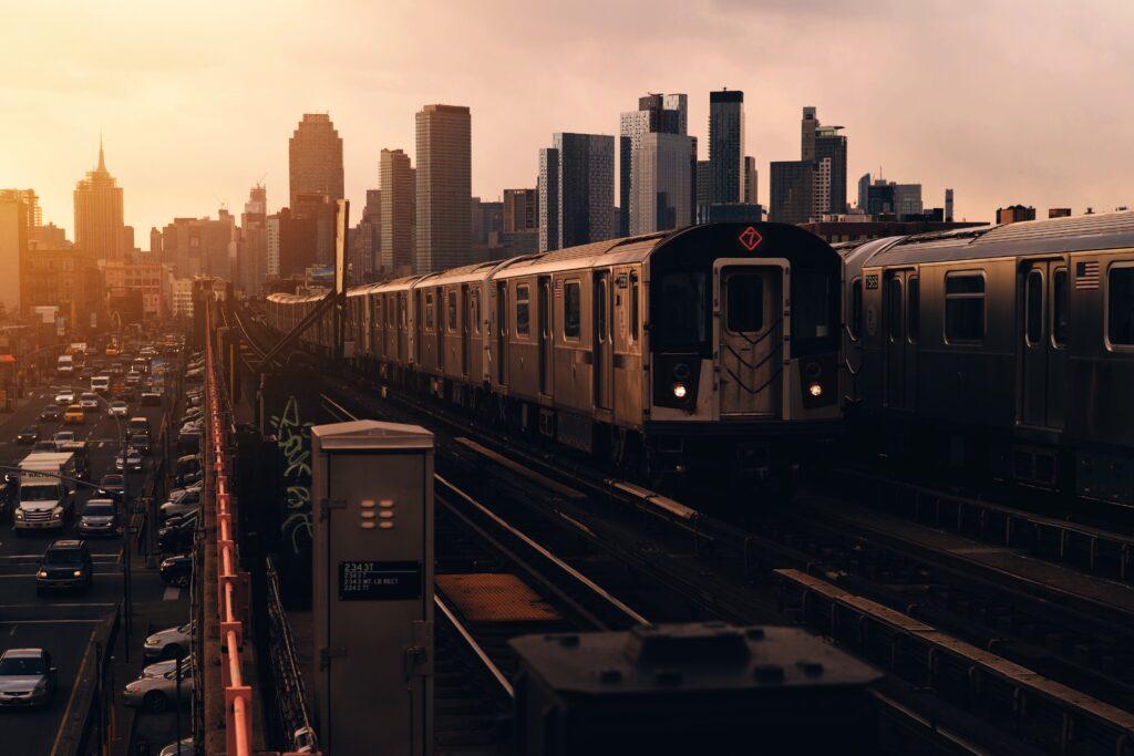 Train in Queens, New York City