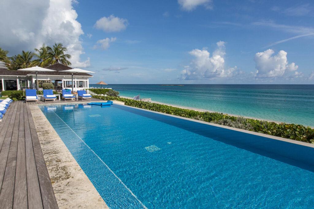 The Ocean-View Pool at the The Ocean Club, A Four Seasons Resort, Bahamas