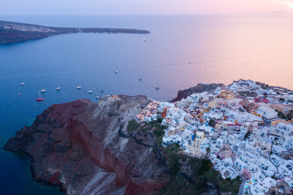 Oia, Greece at sunset