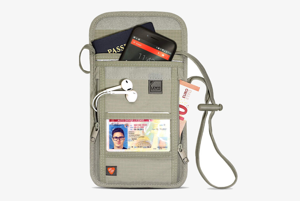 Lewis N. Clark Wallet, Pouch, and Passport Holder