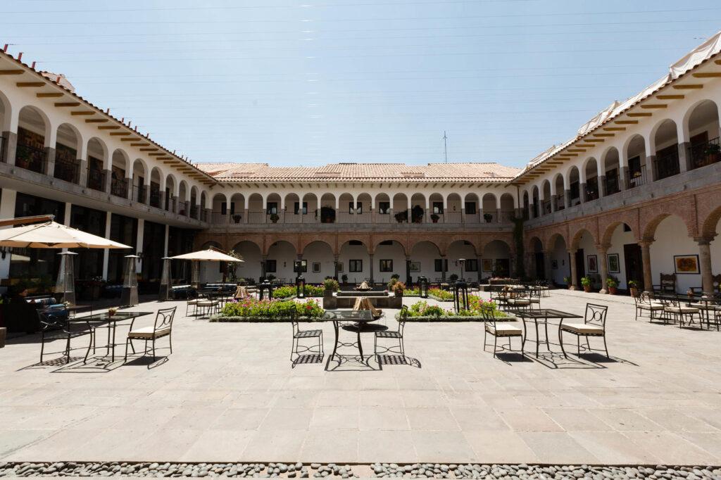 Patio at the JW Marriott El Convento Cusco