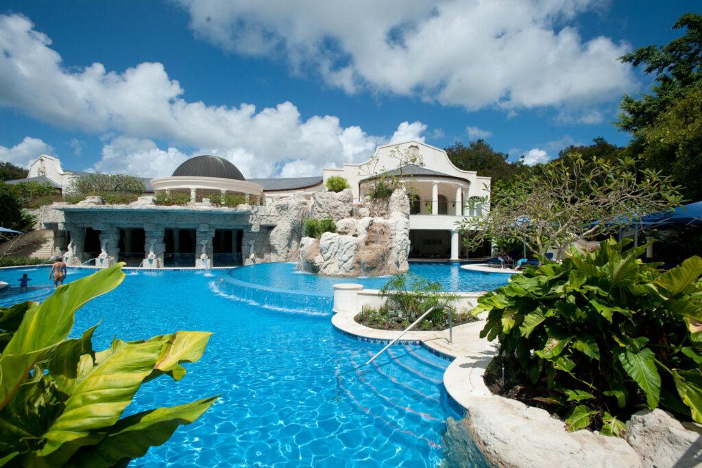 Pool at the Sandy Lane Hotel