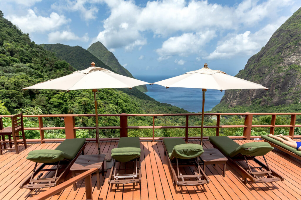 View from the pool at the Ladera Resort