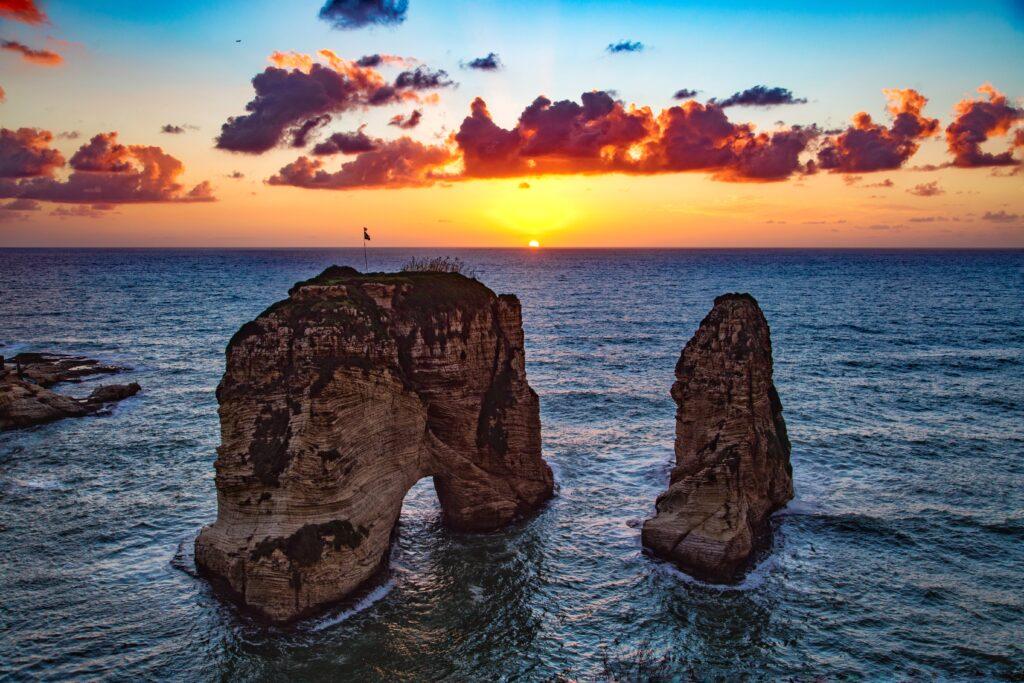 Raouche Rocks, Beirut, Lebanon
