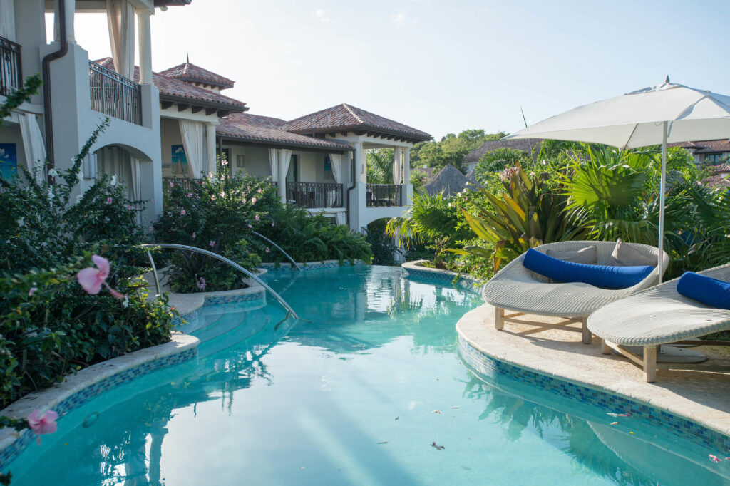 The South Seas Waterfall River Pool at the Sandals Grenada Resort and Spa