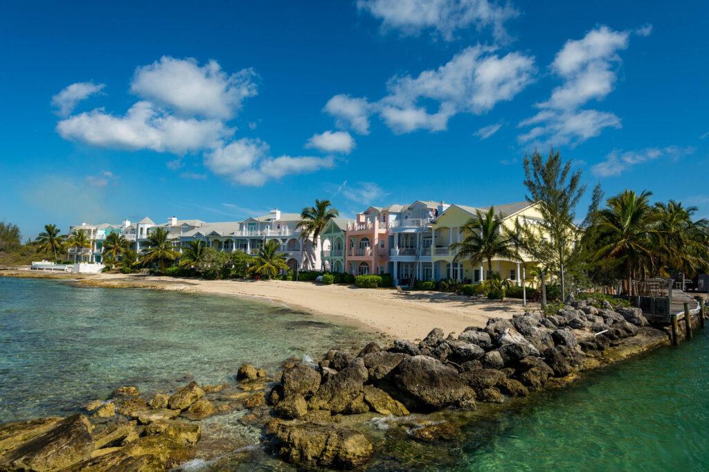 Bahamas houses and beach